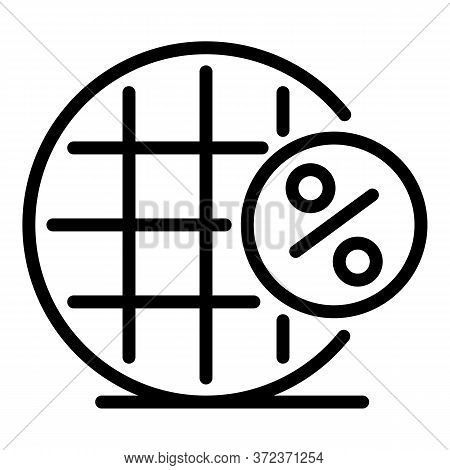 Tax Percent Net Icon. Outline Tax Percent Net Vector Icon For Web Design Isolated On White Backgroun