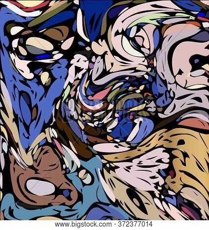 Background Image Of Abstract Colored Chaos Blue And Agray