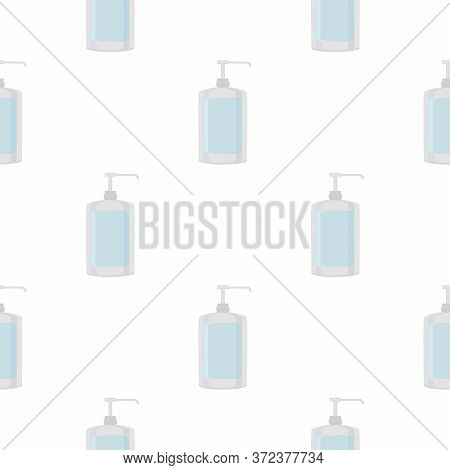 Seamless Of Many Identical Sanitizer In Soap Dispenser For Disinfection. Disinfection Consisting Of