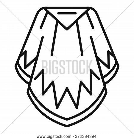 Mexican Poncho Icon. Outline Mexican Poncho Vector Icon For Web Design Isolated On White Background