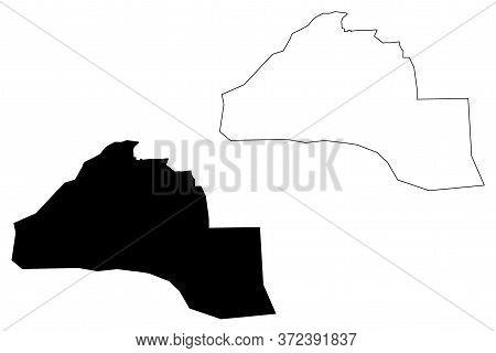 Al-hofuf City (kingdom Of Saudi Arabia, Ash-sharqiyyah Or Eastern Province) Map Vector Illustration,