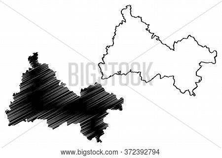 Diekirch Canton (grand Duchy Of Luxembourg, Administrative Divisions) Map Vector Illustration, Scrib