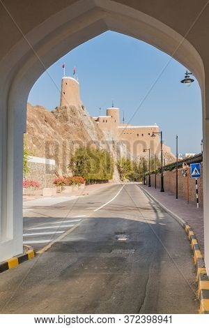 View Of Al Mirani Fort In Muscat From Mathaib Gate, Oman