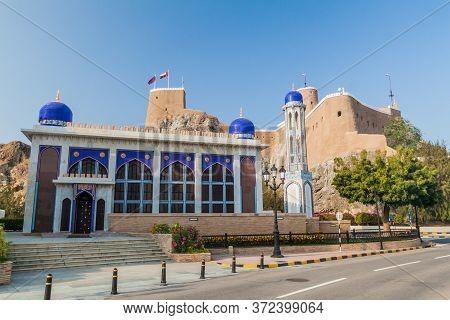 Al Khor Mosque And Al Mirani Fort In Muscat, Oman