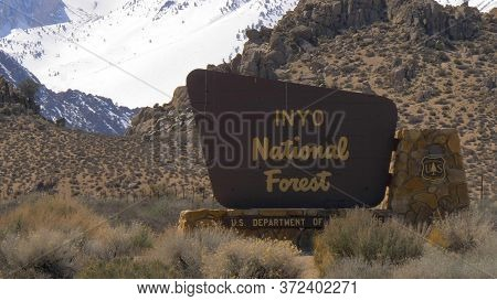 Inyo National Forest In The Sierra Nevada - Bishop, United States - March 29, 2019