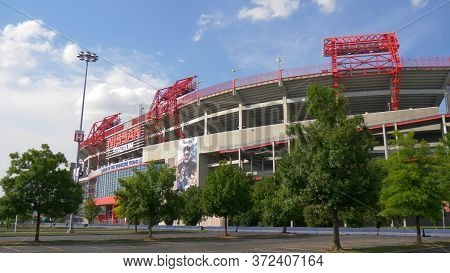 Famous Landmark In Nashville - The Nissan Stadium - Nashville, Usa - June 17, 2019