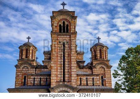 St. Mark's Church Serbian Orthodox Church In Tasmajdan Park In Belgrade, Serbia
