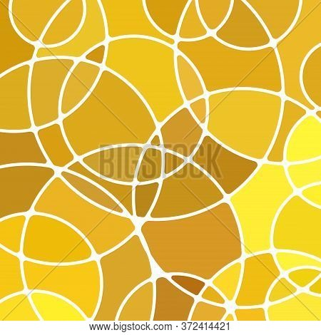 Abstract Vector Stained-glass Mosaic Background - Yellow And Brown Circles