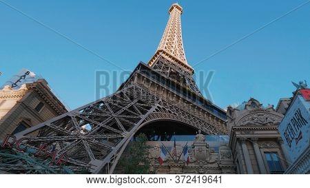 The Eiffel Tower At Paris Las Vegas Hotel And Casino - Las Vegas-nevada - October 11, 2017