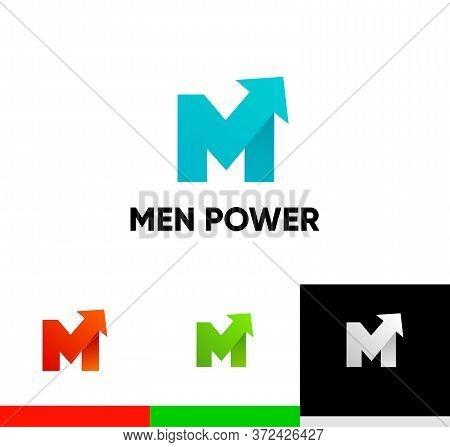 Men Power Logo With Arrow Symbol - Libido Strength