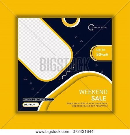 Weekend Sale Social Media Post Template Design.weekend Sale Social Media Post Template Design.promot