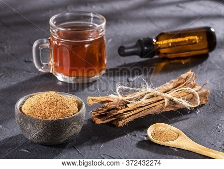 Uncaria Tomentosa Also Called Cat's Claw Homeopathic Herbal Medicine