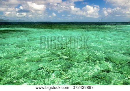 Ile Cocos Marine National Park Seascape, Seychelles