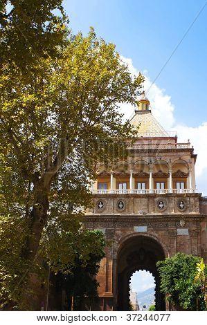 The Porta Nuova in Palermo,Sicily