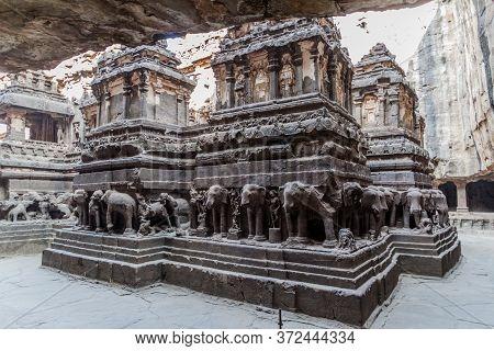 Kailasa Temple In Ellora, Maharastra State, India