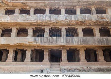Das Avatara Ten Incarnations Of Vishnu Cave In Ellora, Maharasthra State, India