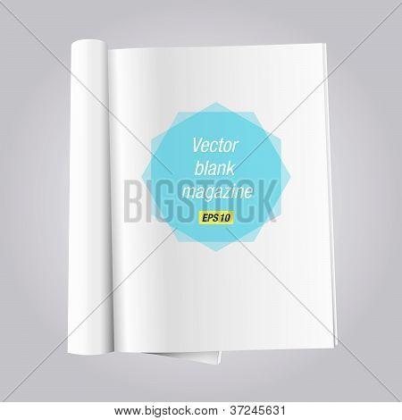 blank open magazine