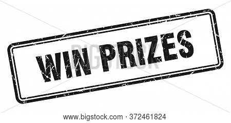 Win Prizes Stamp. Win Prizes Square Grunge Sign. Win Prizes