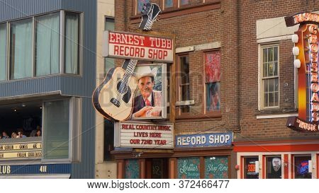 Ernest Tubb Record Shop In Nashville - Nashville, Usa - June 17, 2019