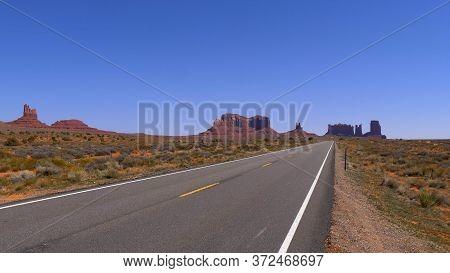 Monument Valley In Utah- Utah, United States - March 20, 2019