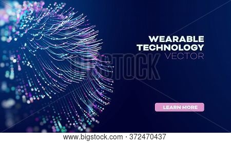 Wearable Technology In Abstract Style. Abstract Vector Background. Future Science Vector Background.