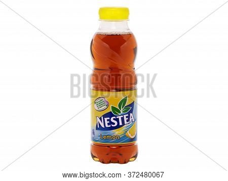 Bucharest, Romania - December 6, 2016. Bottle Of Nestea, A Refreshing Made With Real Tea And Natural