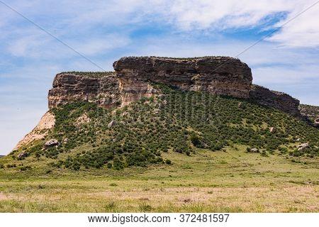 Chugwater Wyoming Prairie Bluffs. Scenic Beauty Of Wyoming