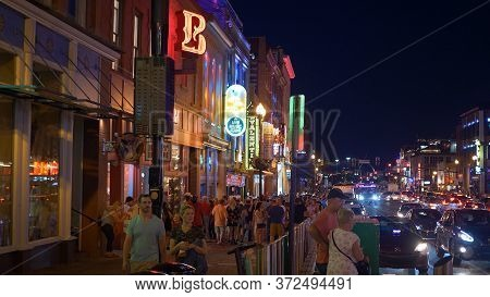 Nashville Broadway Is A Real Party Mile - Nashville, Usa - June 17, 2019
