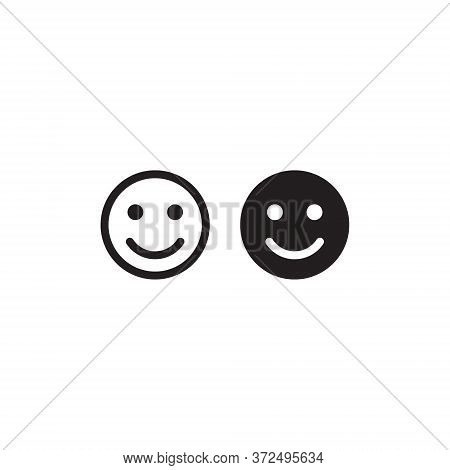 Smile Icon In Trendy Flat Style. Happy Face Symbol Vector. Satisfied Sign Illustration