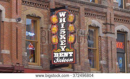Whiskey Bent Saloon In Nashville - Nashville, Usa - June 17, 2019