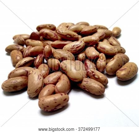 Red Kidney Beans Also Know As Azuki Beans Or Rajma Seeds Isolated On White Background