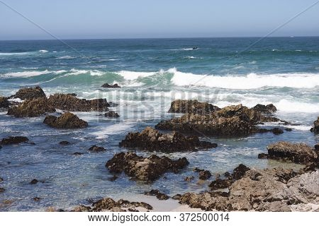 This Is An Image Of The Ocean Taken At Asilomar State Beach In Pacific Grove, California.