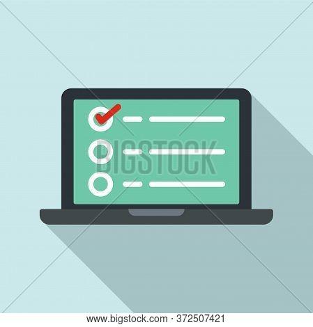 Government Online Survey Icon. Flat Illustration Of Government Online Survey Vector Icon For Web Des