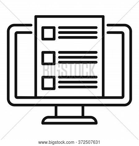 Online Feedback Icon. Outline Online Feedback Vector Icon For Web Design Isolated On White Backgroun
