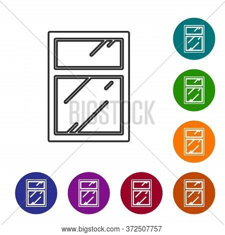 Black Line Cleaning Service For Windows Icon Isolated On White Background. Squeegee, Scraper, Wiper.