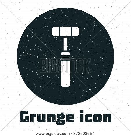 Grunge Neurology Reflex Hammer Icon Isolated On White Background. Monochrome Vintage Drawing. Vector