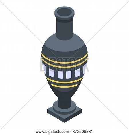 Egyptian Vase Icon. Isometric Of Egyptian Vase Vector Icon For Web Design Isolated On White Backgrou
