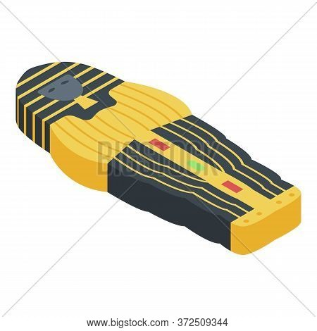Pharaoh Sarcophagus Icon. Isometric Of Pharaoh Sarcophagus Vector Icon For Web Design Isolated On Wh