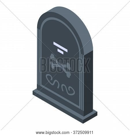 Zombie Tomb Icon. Isometric Of Zombie Tomb Vector Icon For Web Design Isolated On White Background