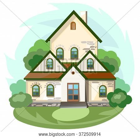 The House Is Fabulous, Cartoon. Village Cottage. House In The Forest. Holiday. Cottage, Cottage. A C