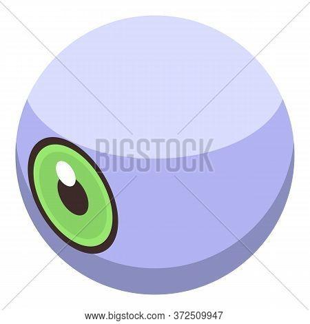 Zombie Eyeball Icon. Isometric Of Zombie Eyeball Vector Icon For Web Design Isolated On White Backgr