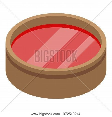 Red Tomato Soup Icon. Isometric Of Red Tomato Soup Vector Icon For Web Design Isolated On White Back