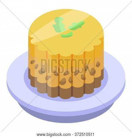 Jelly Cake Icon. Isometric Of Jelly Cake Vector Icon For Web Design Isolated On White Background