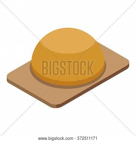 Flour Bread Icon. Isometric Of Flour Bread Vector Icon For Web Design Isolated On White Background