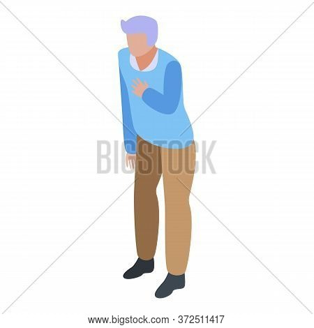 Thankful Grandfather Icon. Isometric Of Thankful Grandfather Vector Icon For Web Design Isolated On