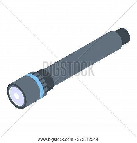 Medical Flashlight Icon. Isometric Of Medical Flashlight Vector Icon For Web Design Isolated On Whit
