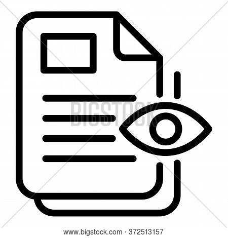 Inspector Documents Icon. Outline Inspector Documents Vector Icon For Web Design Isolated On White B