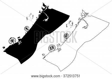 Dubai City (united Arab Emirates, Uae, Emirate Of Dubai) Map Vector Illustration, Scribble Sketch Ci