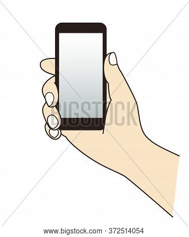 Holding A Cell Phone (mobile Phone) At Hand,graphic Element