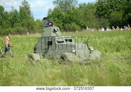 Russia, St. Petersburg 30,06,2012 Armored Car. German Military Equipment From The Second World War O